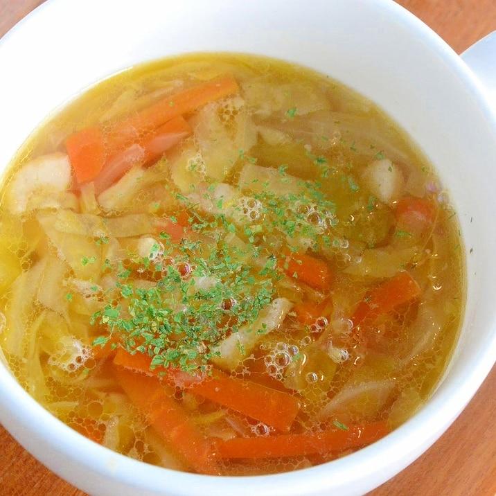 キャベツと生姜のスープ