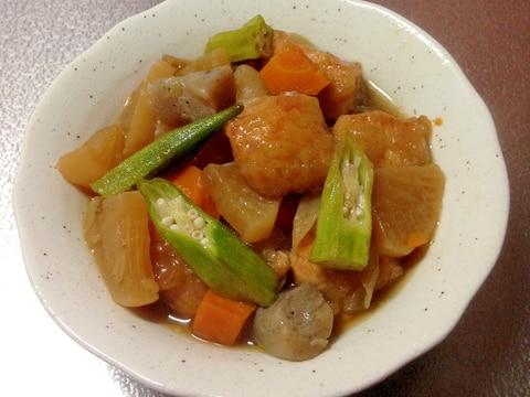ご飯が進む♪鶏むね肉と野菜の甘辛炒め煮☆
