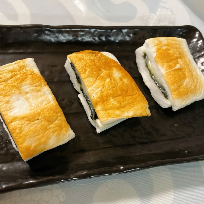 お弁当に♫ はんぺんの海苔チーズ焼き