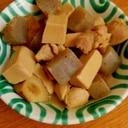 糠床の水取後の高野豆腐で簡単煮物