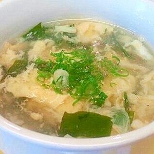 鶏の茹で汁再利用で♪かきたまスープ