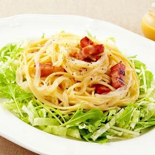 冷製・しらたきのカルボナーラサラダ