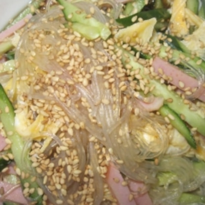 春雨サラダは大好きです!タレが美味しい♪