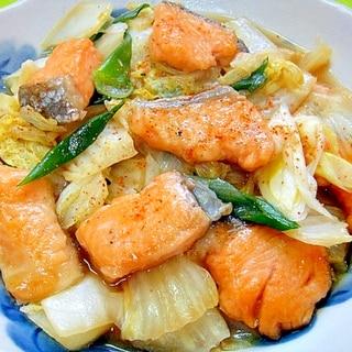 甘塩鮭と白菜の蒸し煮