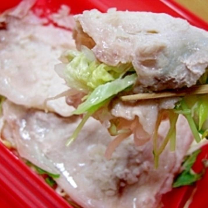 豚薄切り肉と野菜の塩麹蒸し★シリコンスチーマで!