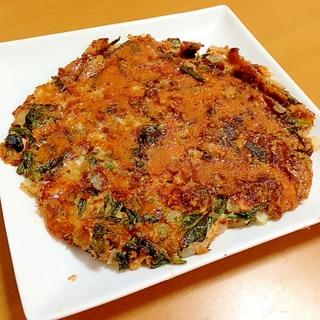 ほうれん草とキムチのチーズチヂミ(●^o^●)