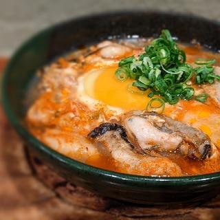 中毒性MAXのレンジで作る牡蠣キムチスープ
