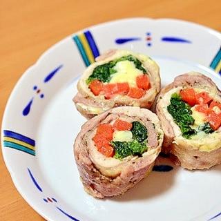 【レンジで簡単】鶏むね肉の野菜巻き