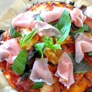 余ったトマトソースとピザミックスde爆速節約ピザ