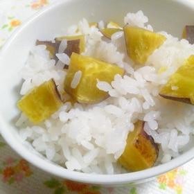 """塩いれるだけ・・自然の甘さで""""サツマイモご飯"""""""