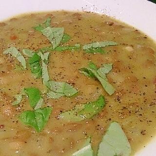 レンズ豆の簡単バジルグリーンカレー。