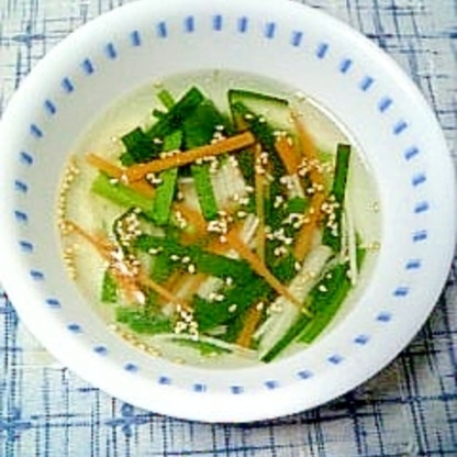 ☆にら人参の中華スープ☆