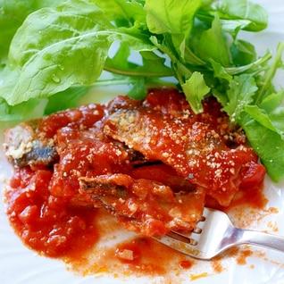 お魚を食べよう!さんまで簡単トマト煮込み