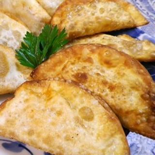 納豆チーズ餃子の揚げ焼き