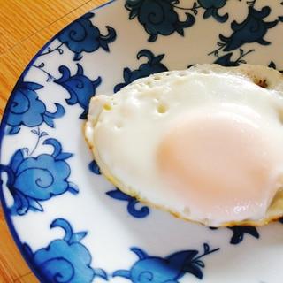 子どもが食べやすい固めの目玉焼き