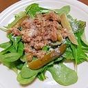 ミックスリーフとツナのサラダ