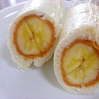 バナナときな粉のラップロールサンド