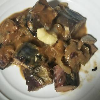 鯖の水煮缶詰めで作るさばの味噌煮
