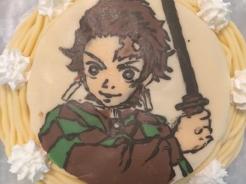 さつまいもモンブランパイン入り☆鬼滅の刃ケーキ☆