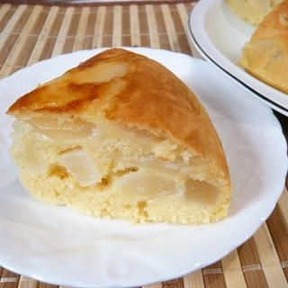 炊飯器で、梨ケーキ