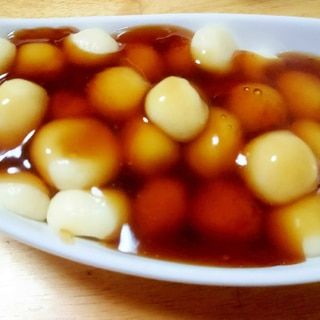 お月見に!白玉粉&豆腐のみたらし団子