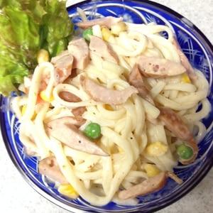 子どもの好きな食材☆ウインナーとコーンの春雨サラダ