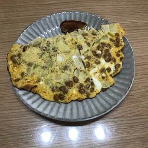 朝食に♪ごまたっぷりの納豆オムレツ✿