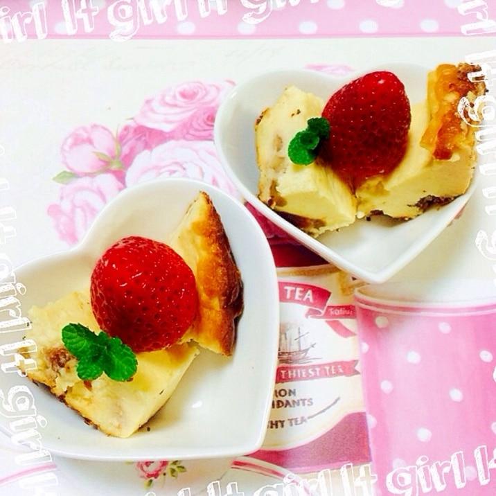 炊飯器&希少糖!甘さ控えめチーズケーキ
