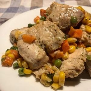 お弁当にも❤鶏むね肉の塩レモンソテー♪