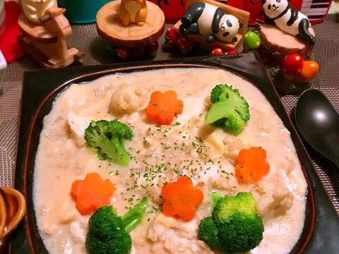 ぷるぷる卵とうふのさらさら蕎麦粉豆乳シチュー