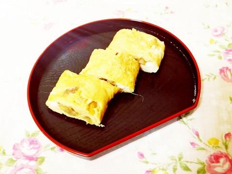 栗と生姜の卵焼き