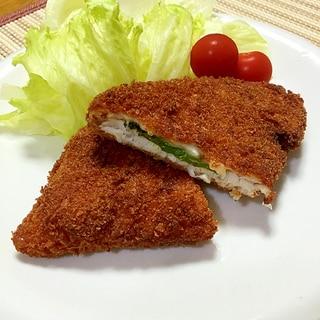子どもに食べて欲しい!大葉・チーズINカジキフライ