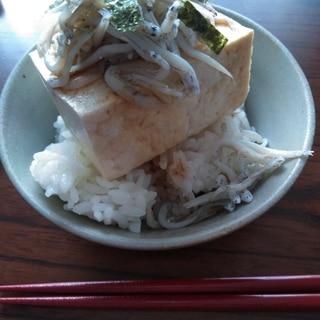 豆腐のっけご飯