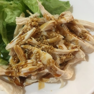 鶏胸肉バンバンジー(手作り辛めのタレ)