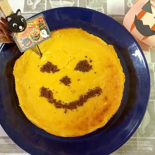 ヨーグルトでヘルシー!簡単かぼちゃチーズケーキ