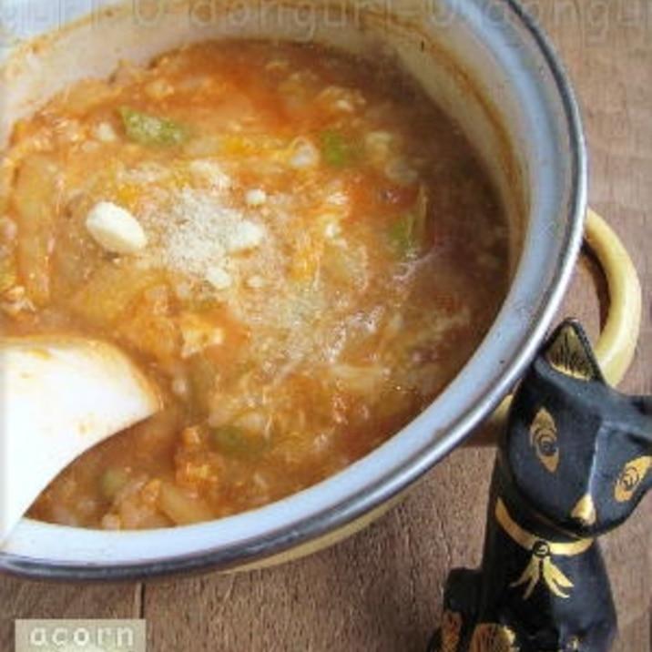 キムチ鍋の素で簡単♪ 【キムチリゾット】