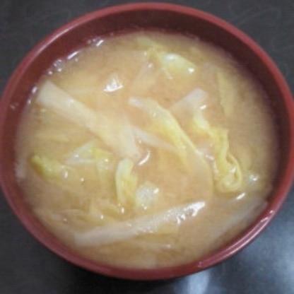 キャベツと大根のお味噌汁