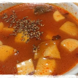 市販のトマトソースを使ったエリンギトマトスープ