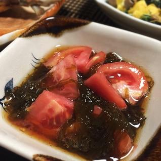 めんつゆで簡単3分☆トマトのもずく酢