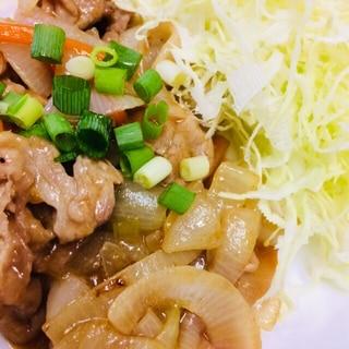 市販の青椒肉絲の素で肉野菜炒め