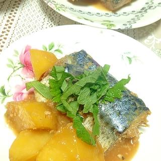 圧力鍋で♡鯖とじゃがいもの味噌煮