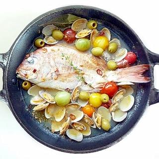 真鯛のアクアパッツア