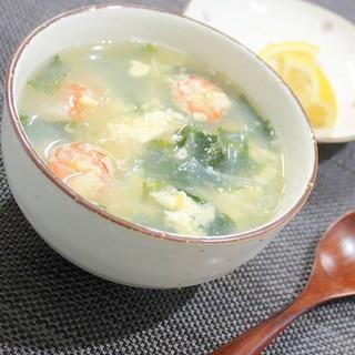 ナンプラーで簡単エスニック♪海老と卵の中華スープ