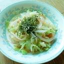 春キャベツの温サラダ