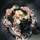 1人ランチ★鯖水煮で混ぜ蕎麦(o^^o)