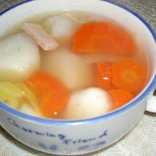 里芋と白菜のコンソメスープ