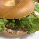 チキンムースディップ ベーグルサンド