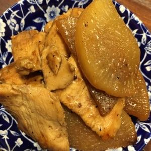 フライパンで簡単♡トロ~リ大根と鶏胸肉の甘辛炒め煮