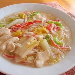 白菜とカニかまのくずし豆腐あんかけ♪