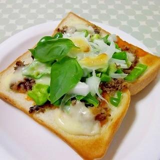 栄養満点♪いわし缶のピザ風トースト